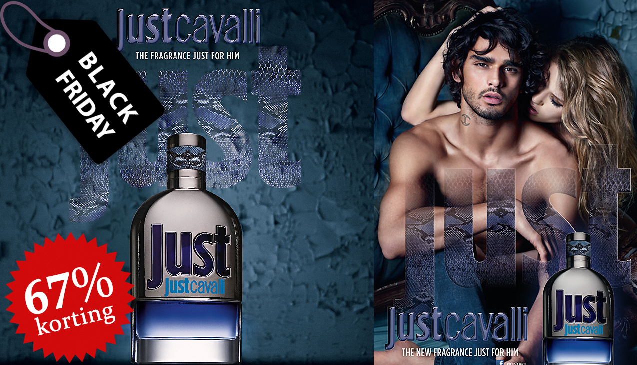 67% korting! Just Cavalli for Men 90ml eau de toilette