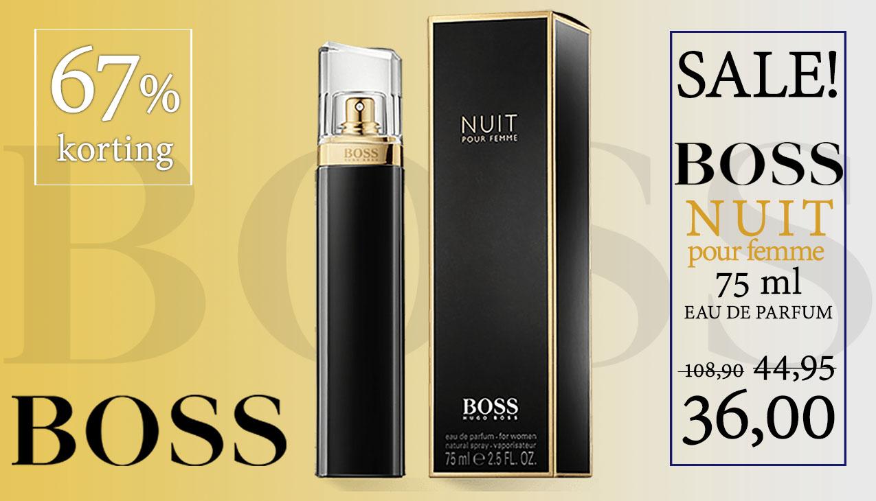 Aanbieding! Boss Nuit Pour Femme 75ml eau de parfum