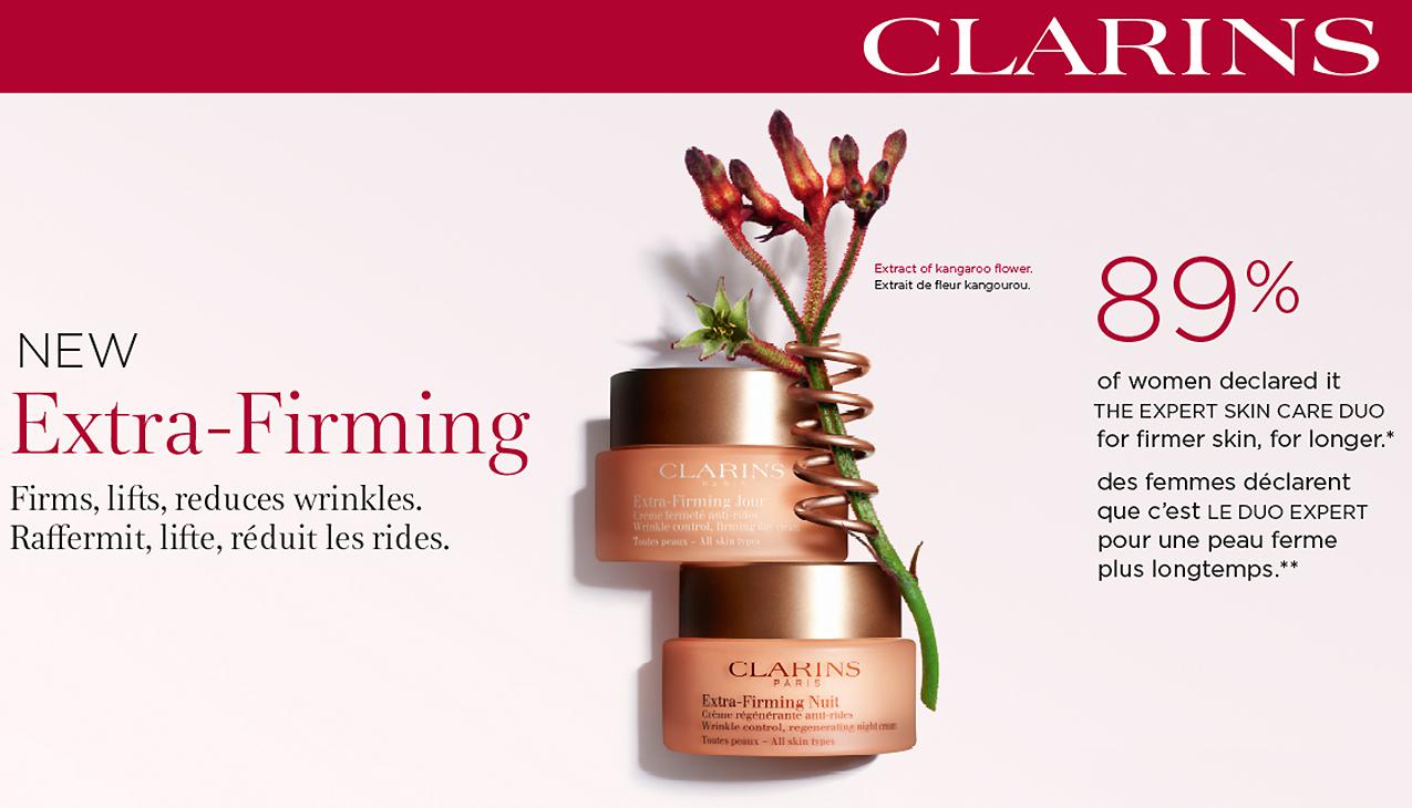Clarins Extra-Firming; Verstevigt, lift, reduceert rimpels