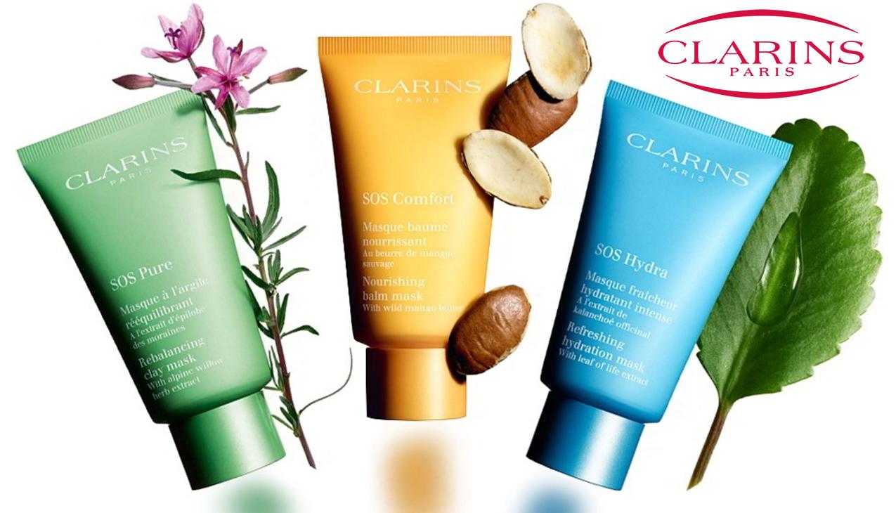 Clarins SOS Face Masks; Een masker voor al uw huidbehoeften!
