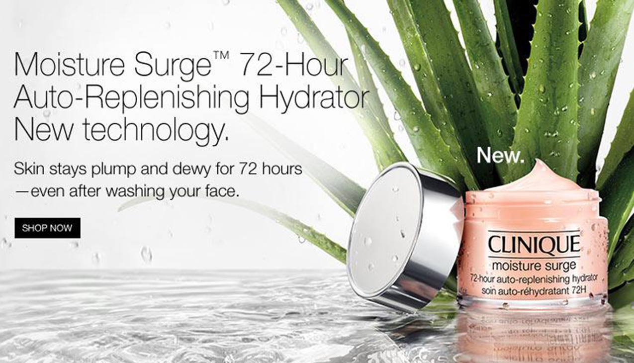 Clinique Moisture Surge; optimale hydratatie voor de droge tot zeer droge huid