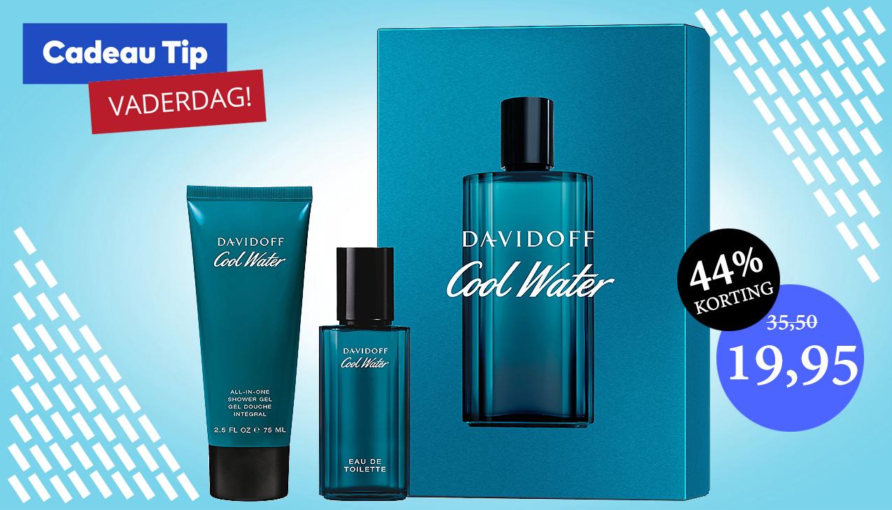 Aanbieding! Davidoff Cool Water for Men Set 40ml edt + 75ml Showergel