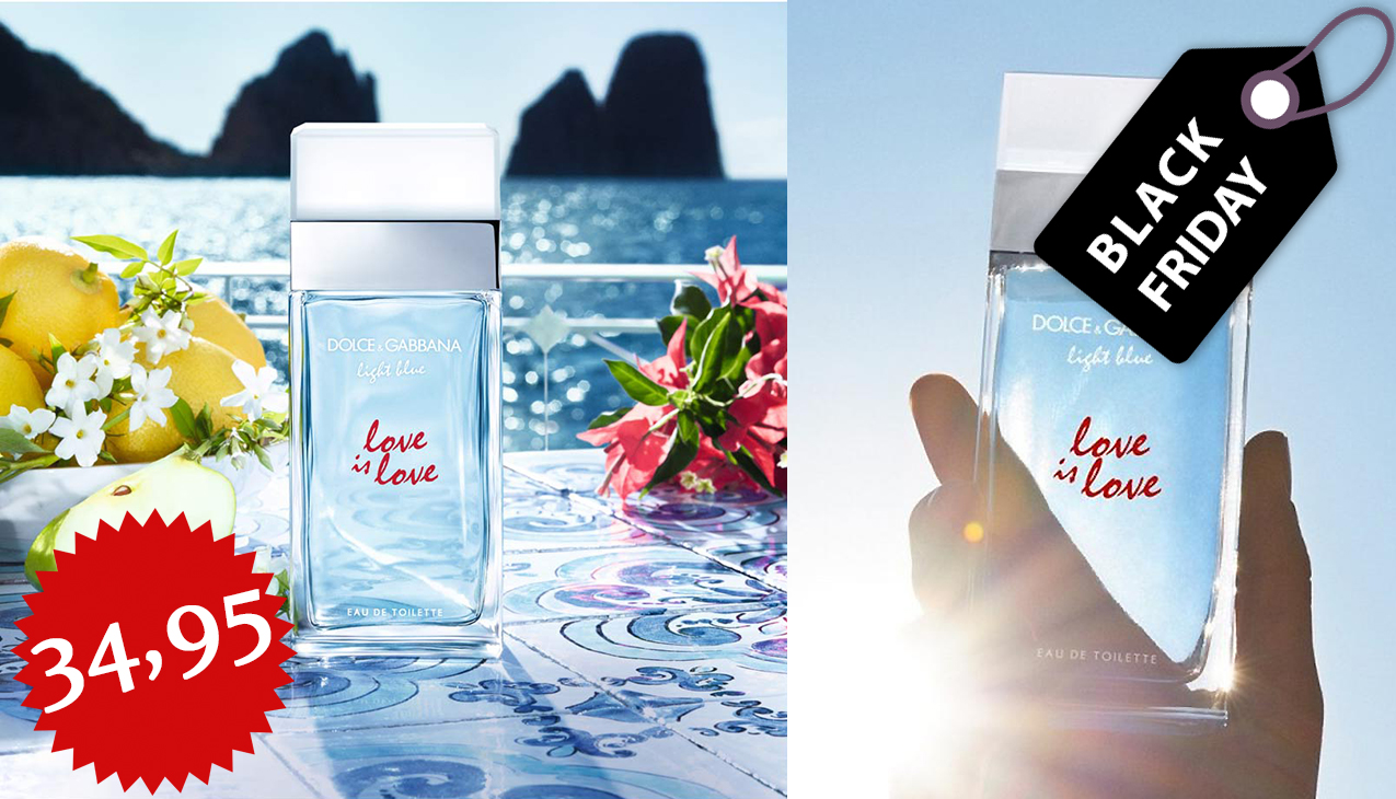 Black Friday Deal! D&G Light Blue Love Is Love 100ml edt