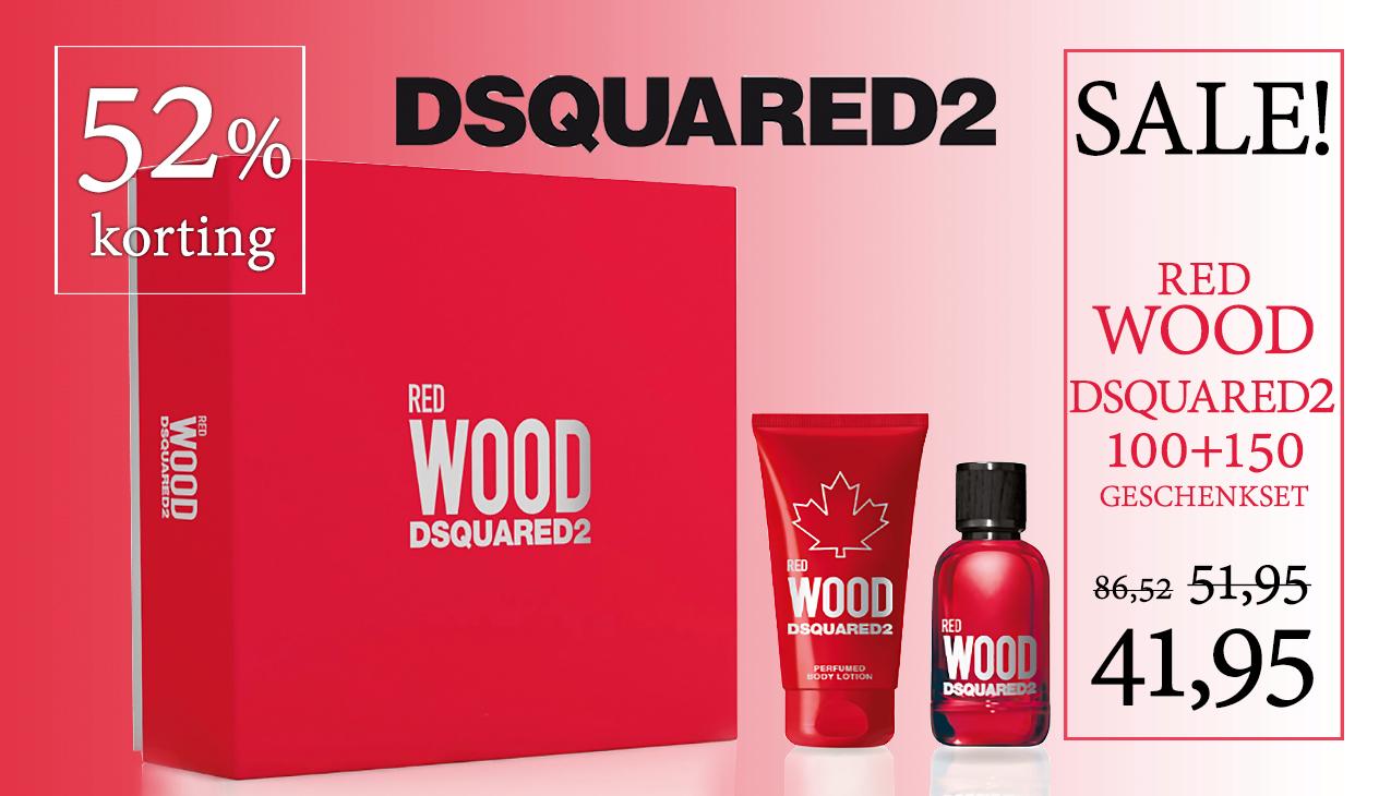Aanbieding! Dsquared² Red Wood Set 100ml edt + 150ml Bodylotion