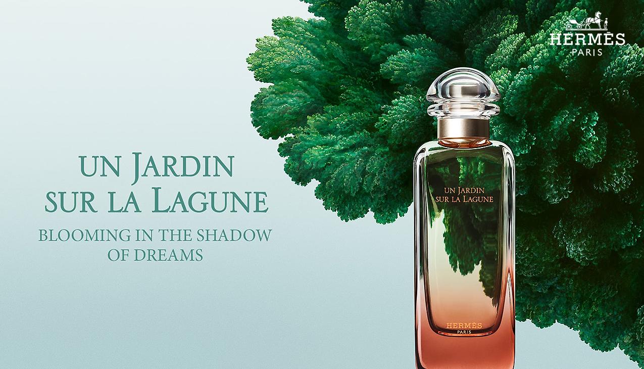 Hermes Un Jardin Sur La Lagune; bloeit in het schaduwspel van dromen