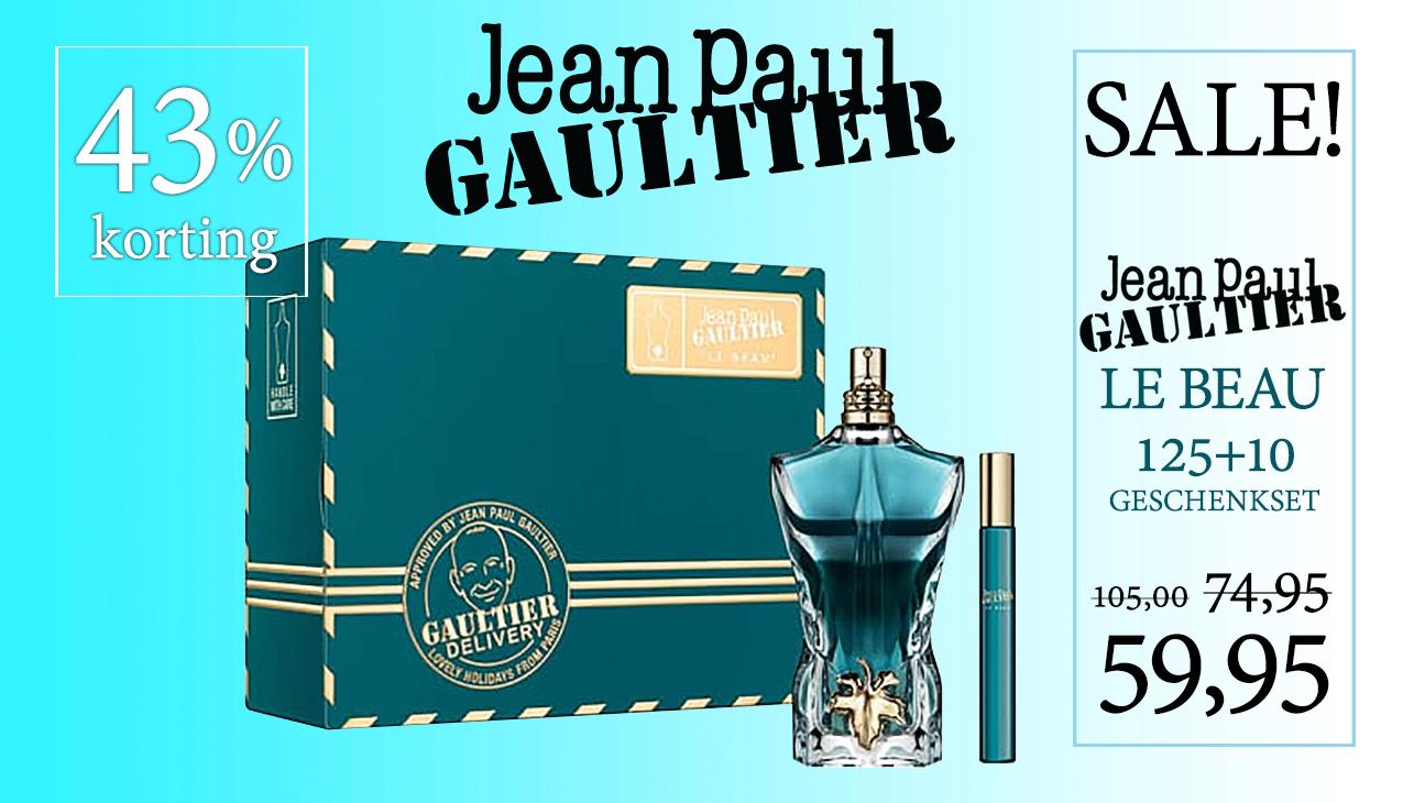 Aanbieding! Jean Paul Gaultier Le Beau 125ml + 10ml edt