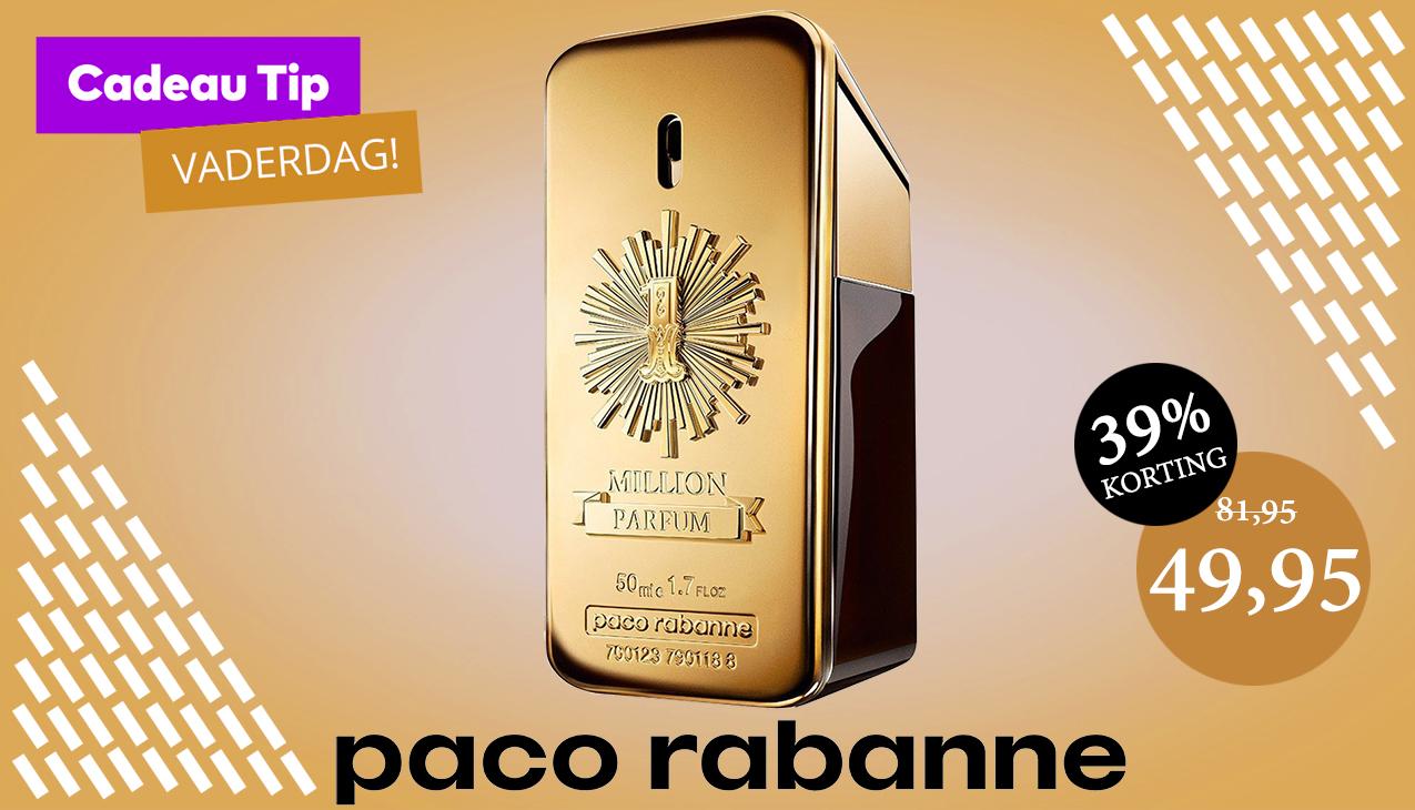 Speciaal voor alle vaders; Paco Rabanne 1 million Men 50ml parfum spray