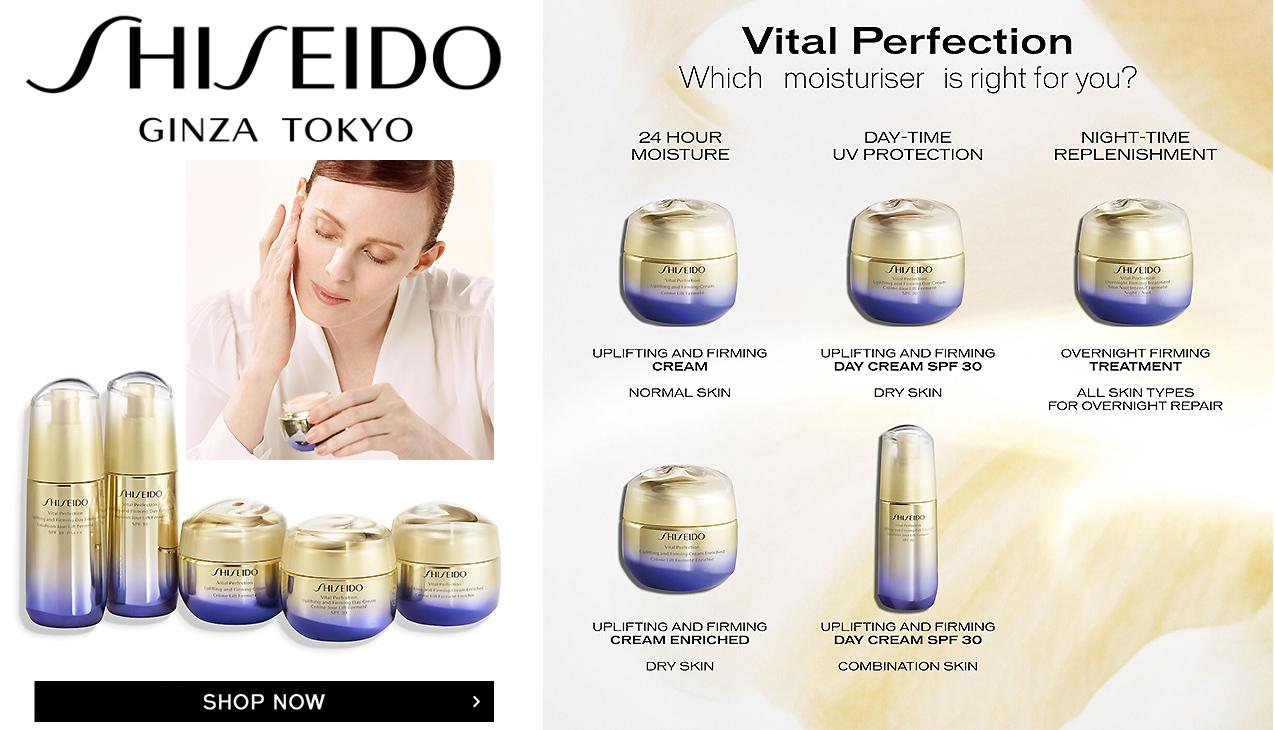 Shiseido Vital Perfection; Proactieve verzorging met revolutionaire technologie