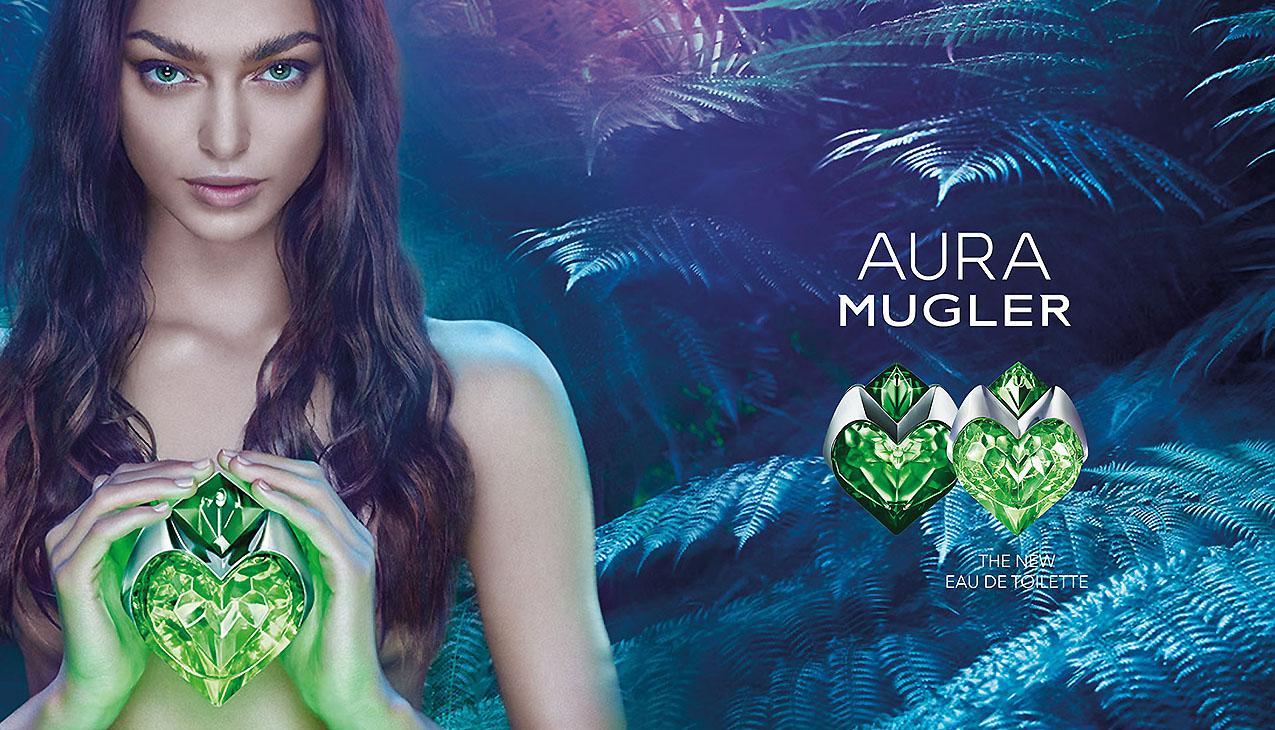 Aura Mugler edt; een nieuwe aromatische interpretatie van kleurrijke, gloeiende frisheid