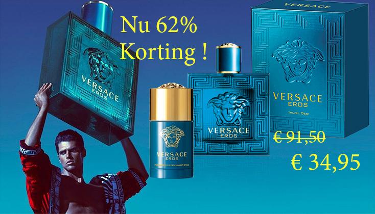 Aanbieding! Versace Eros Set 50ml edt + 75ml Deo-Stick € 34,95