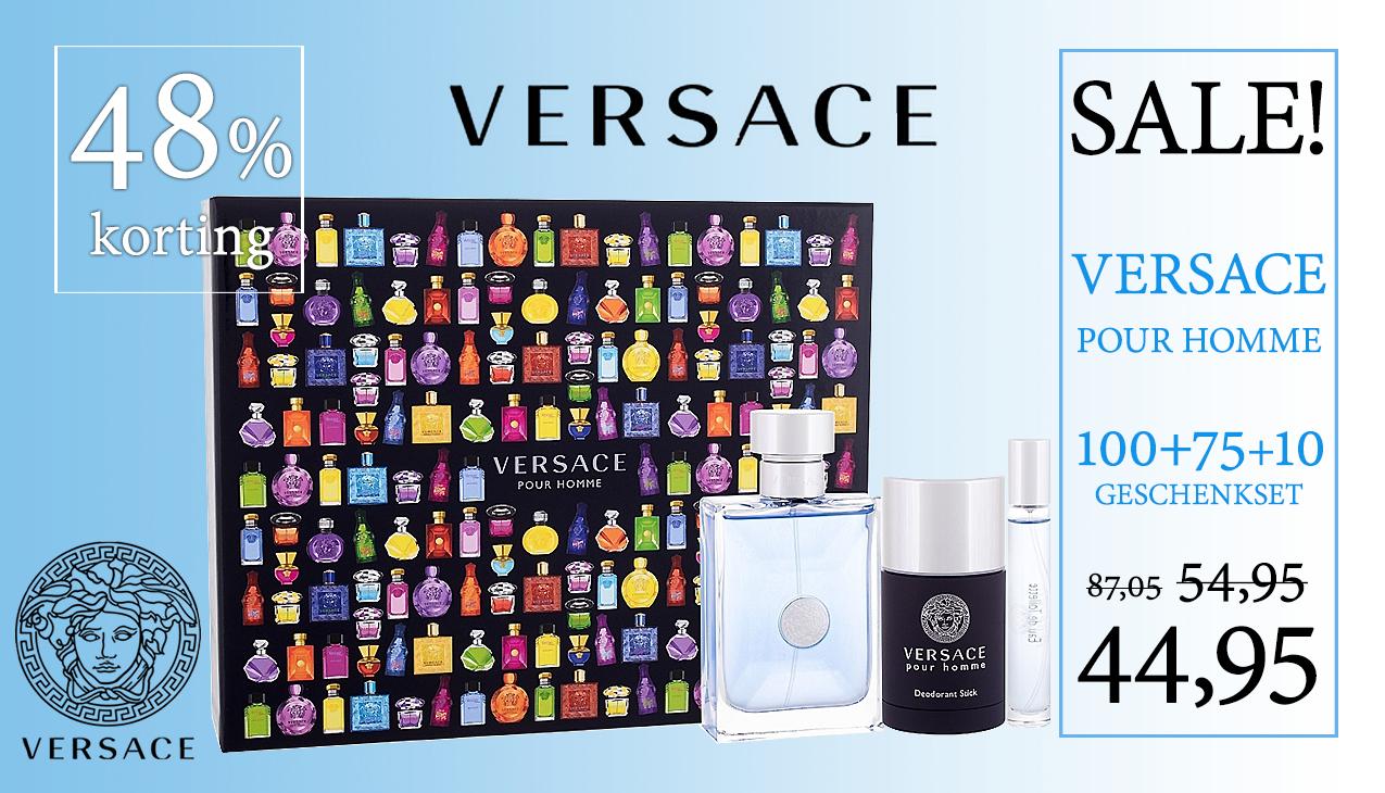 Aanbieding! Versace Pour Homme Set 100ml+75ml+10ml
