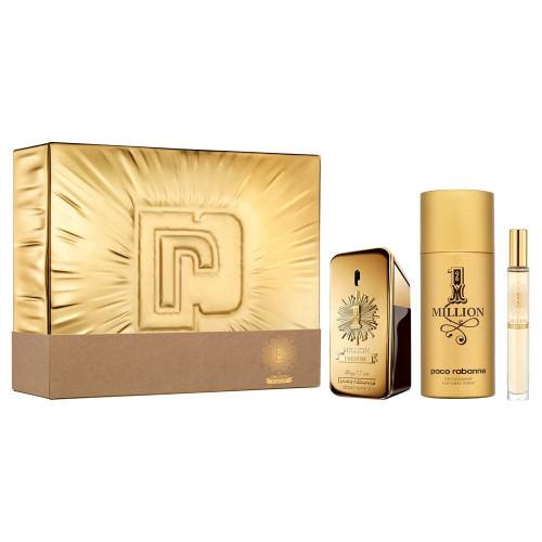 Paco Rabanne 1 million Men Parfum Set 50ml parfum spray + 10ml edp + 150ml Dedorant spray