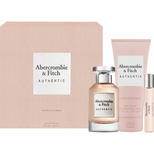 Abercrombie & Fitch Authentic Woman Set 100ml  edp + 200ml Bodylotion + 15ml edp