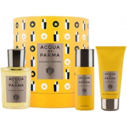 Acqua di Parma Colonia Intensa Set 100ml Eau De Cologne Spray + 75ml Showergel + 50ml Deodorant