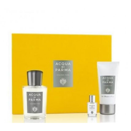 Acqua di Parma Colonia Pura Set 100ml Eau de Cologne spray + 50ml Showergel + 5ml edc Miniatuur
