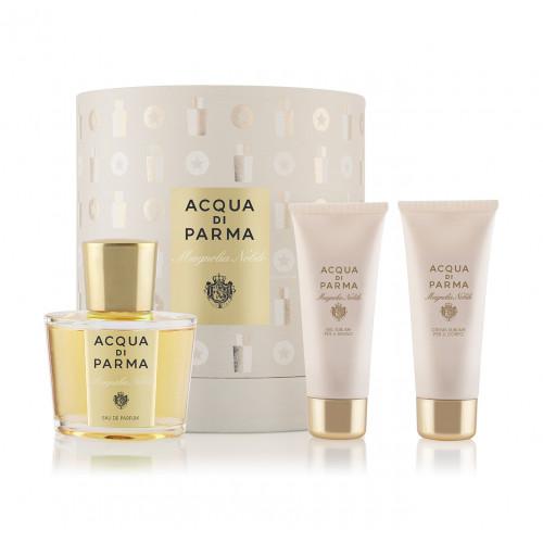 Acqua di Parma Magnolia Nobile Set 100ml Eau De Parfum Spray + 75ml Showergel + 75ml Bodycream