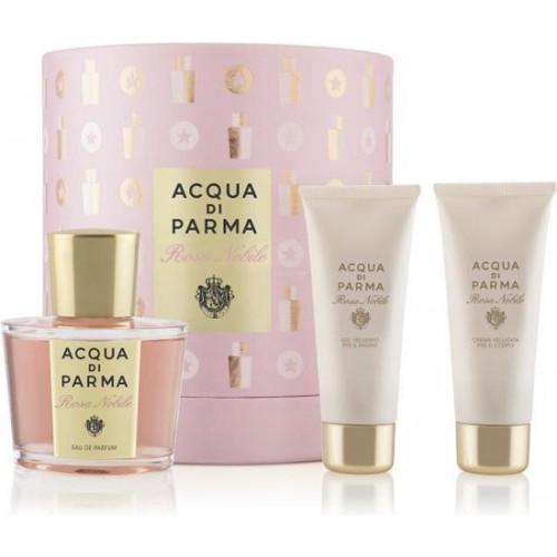 Acqua di Parma Rosa Nobile Set 100 ml Eau de parfum + 75 ml Shower gel + 75 ml Bodycream