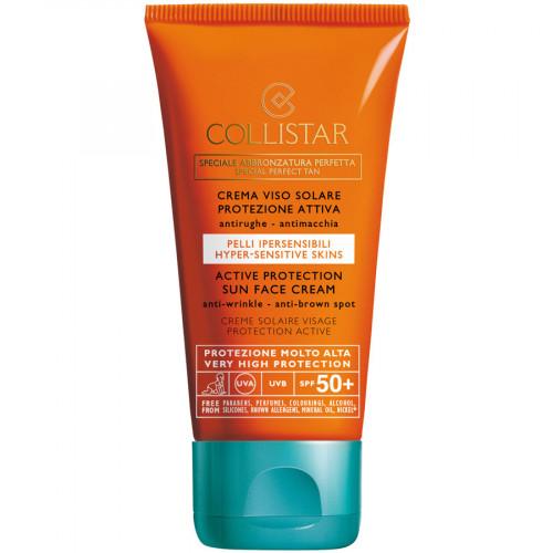 Collistar SPF50 Active Sun Face Cream 50ml Anti Wrinkle -Anti Brown spots