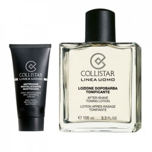 Collistar  Men's Line Aftershave Toning Lotion 100ml  + 30ml daily revitalizing anti wrinkle cream