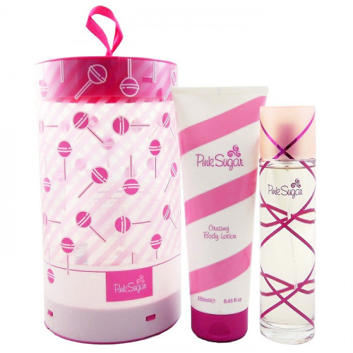 Aquolina Pink Sugar Set 100ml eau de toilette spray + 250 ml Bodylotion Ronde doos