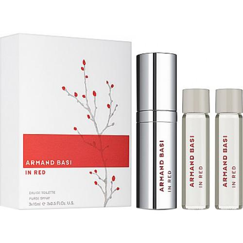 Armand Basi In Red set 15ml eau de toilette spray + 2 x 15 ml edt refill