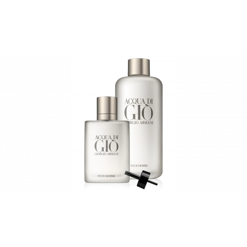 Giorgio Armani Acqua di Gio homme set 50ml edt spray Navulbaar +  200ml Refill