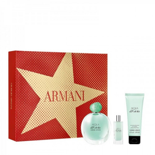 Armani Acqua di Gioia Set 100ml eau de parfum spray + 75ml Showergel + 15ml eau de parfum spray