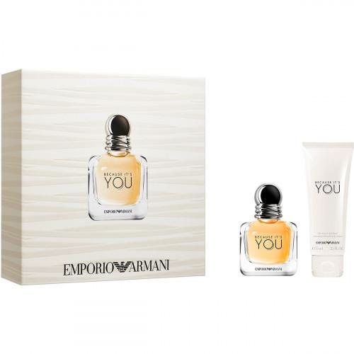 Giorgio Armani Because It's You Set 30ml eau de parfum spray + 75ml Bodylotion
