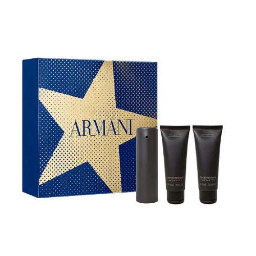 Armani Emporio He Set 50ml eau de toilette spray + 2 x 75ml Showergel