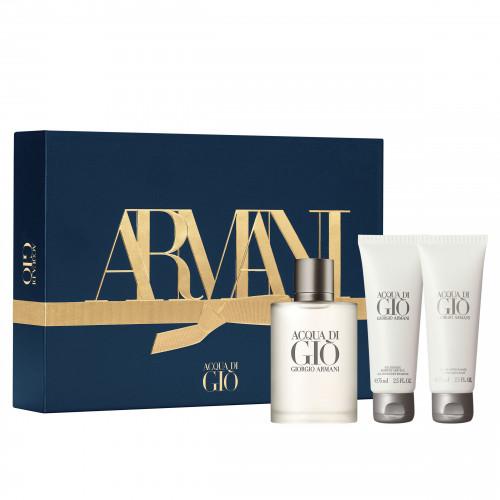 Giorgio Armani Acqua di Gio homme Set 100ml eau de toilette spray + 75ml Showergel + 75ml Aftershave Balsem