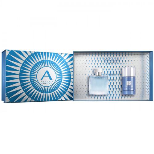 Azzaro Chrome Set 50ml eau de toilette spray + 75ml Deodorant stick