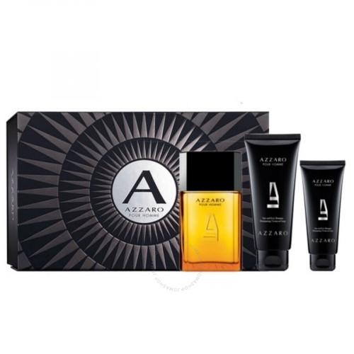 Azzaro Pour Homme Set 100ml eau de toilette spray + 100ml Showergel + 50ml After Shave Balm