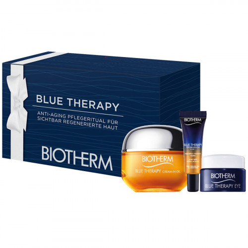 Biotherm Blue Therapy set Blue Therapy Cream-In-Oil 50ml +  Blue Therapy Eye 5ml + Blue Therapy Serum-In-Oil night 10ml