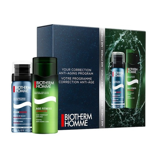 Biotherm Homme Age Fitness Set 50ml soin tonifiant anti-age 50ml shaving foam Normale Huid