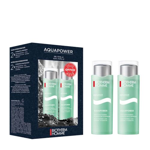Biotherm Homme Aquapower Duo Set Aquapower 2 x 75ml