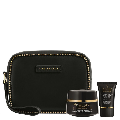 Collistar Sublime Black Precious Cream Set 50ml + Sublime Black Precious Mask 15ml + Tasje van het Italiaanse merk the Bridge