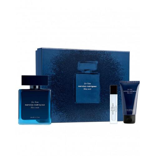 Narciso Rodriguez for Him Bleu Noir Set 100ml eau de parfum spray + 50ml Showergel + 10ml edp miniatuur