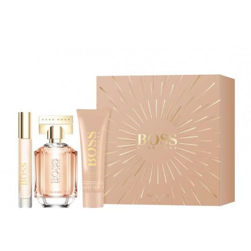 Boss The Scent For Her Set 50ml eau de parfum spray + 50ml Bodylotion + 7,4ml edp Tasspray
