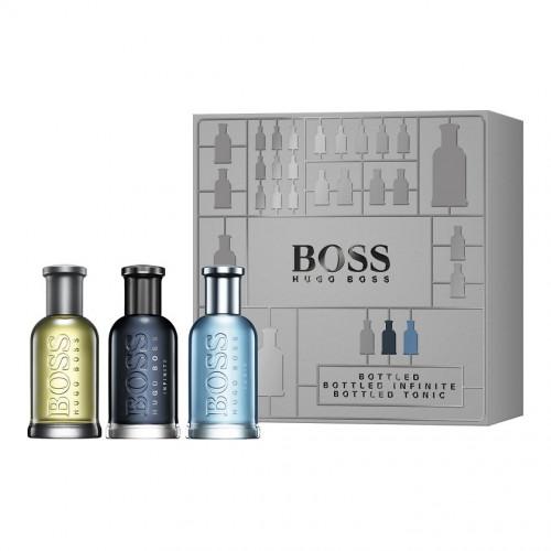 Boss Bottled  Trio Set 3 x 30ml Boss Bottled edt + Boss Bottled Infinite edp + Boss Bottled Tonic edt