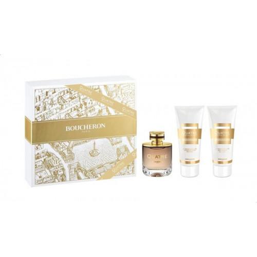 Boucheron Quatre Pour Femme Absolu de Nuit Set 100ml Eau de Parfum Spray + 100ml Bodylotion +100ml Showergel