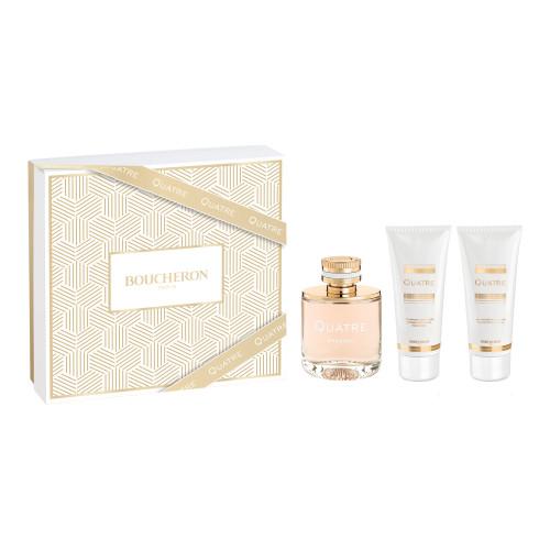 Boucheron Quatre Femme set 100ml Eau de Parfum Spray + 100 ml Bodylotion + 100 ml Showergel