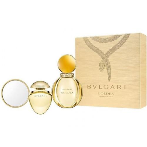 Bvlgari Goldea Set  50ml Eau de Parfum Spray + 25ml edp Tasspray + Spiegel