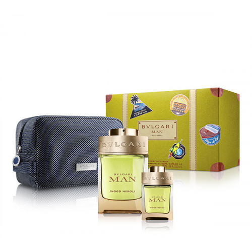 Bvlgari Man Wood Neroli 100ml eau de parfum spray + 15ml eau de parfum spray + Tas