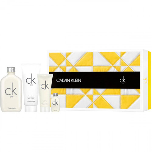 Calvin Klein CK One Set 200ml eau de toilette spray + 200ml Bodylotion + 100ml Showergel + 15ml edt
