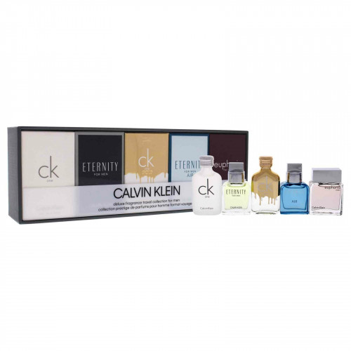 Calvin Klein Deluxe Men Travel Miniature Set 5 x10ml (CK One,  Eternity for Men edt, CK One Gold, Eternity air for Men, Euphoria for Men)