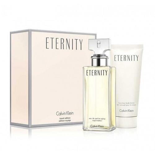 Calvin Klein Eternity Woman Set 100ml eau de parfum spray + 100ml Bodylotion
