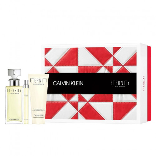 Calvin Klein Eternity Woman Set 100ml eau de parfum spray + 100ml Bodylotion + 10ml edp Tasspray
