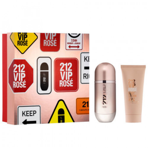 Carolina Herrera 212 VIP Rosé Set 80ml eau de parfum spray + 100ml Bodylotion