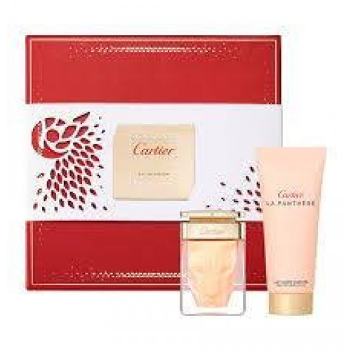 Cartier La Panthère Set 50ml eau de parfum spray + 100ml Bodylotion
