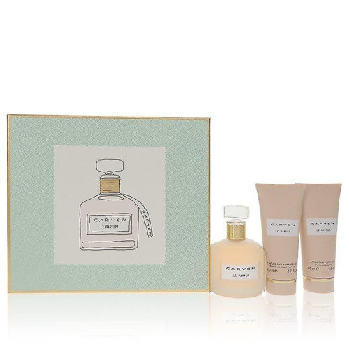 Carven Le Parfum set 100ml Eau De Parfum Spray + 100ml Bodymilk + 100ml Showergel